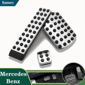 No Drill Pedal Cover Accessories Gas Brake cover pad For Mercedes Benz W124 W202 W203 W140 W208 W210 W211 W220 R170 R171 R-Class