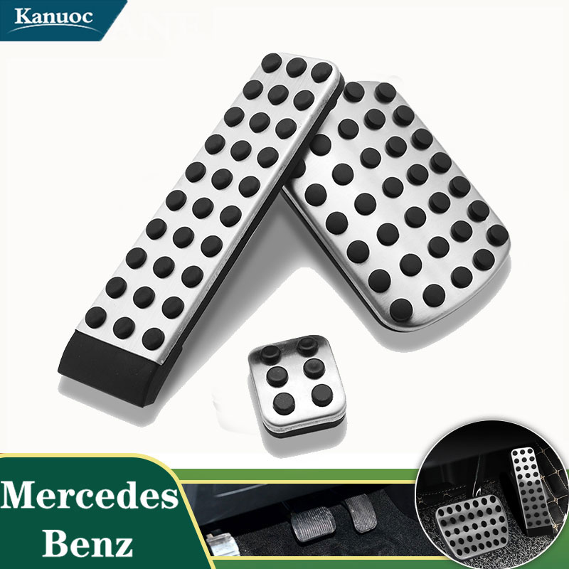 No Drill Pedal Cover <font><b>Accessories</b></font> Gas Brake cover pad For <font><b>Mercedes</b></font> Benz W124 W202 W203 W140 <font><b>W208</b></font> W210 W211 W220 R170 R171 R-Class image