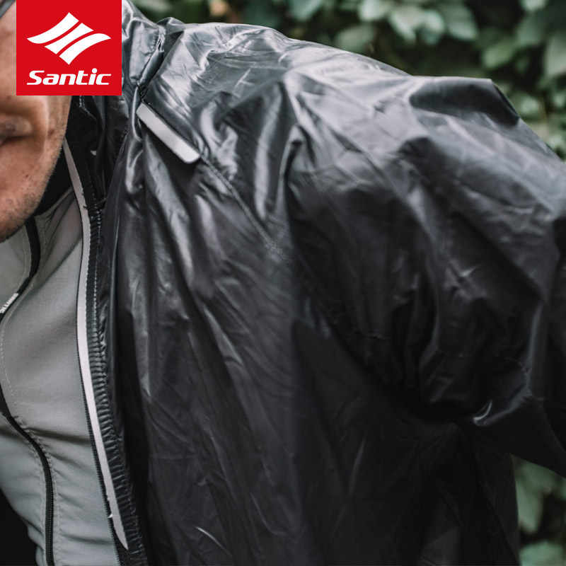 2019 החדש Santic Windproof אטים לגשם רכיבה על עור מעילי מתקפל MTB אופני הרי ג 'רזי אנטי Uv גברים נשים חיצוני ספורט מעילים