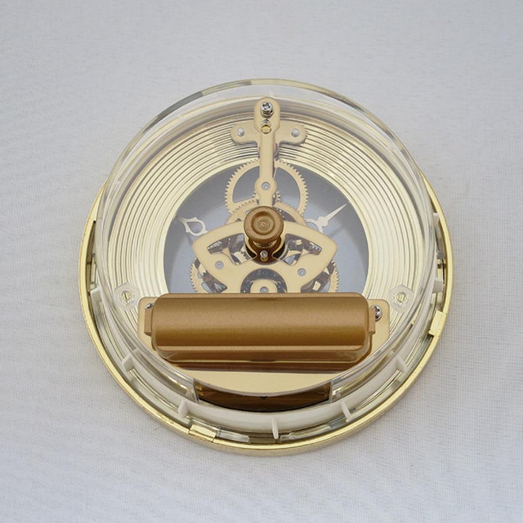 103mm/4.06inch Anniversary Quartz Skeleton Clock Movement Insert  With Round Dial Gold