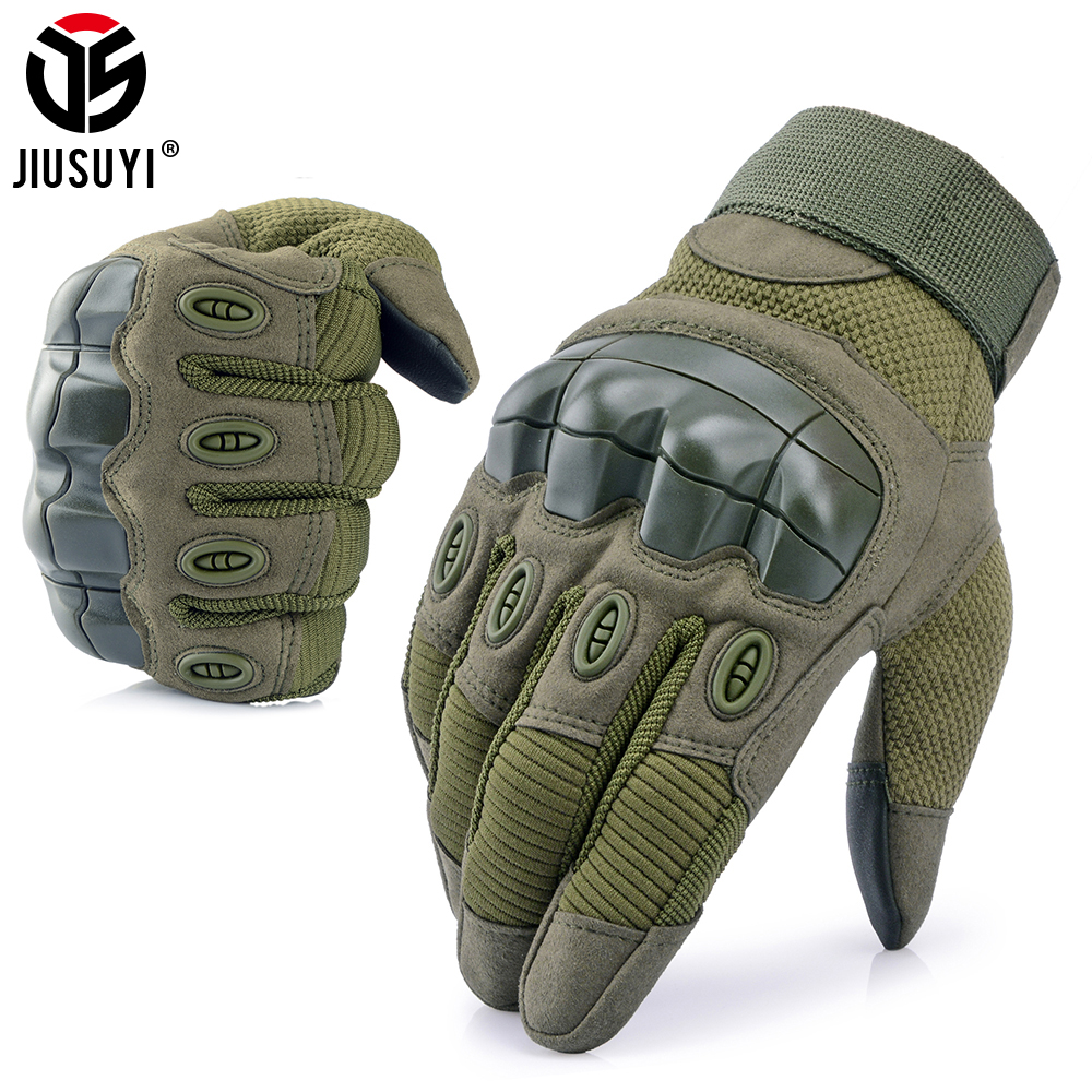 Touch Screen Gloves Tactical Military Army Combat Rubber Hard Knuckle Protective Gear Driving Anti-Skid Full Finger Gloves Men