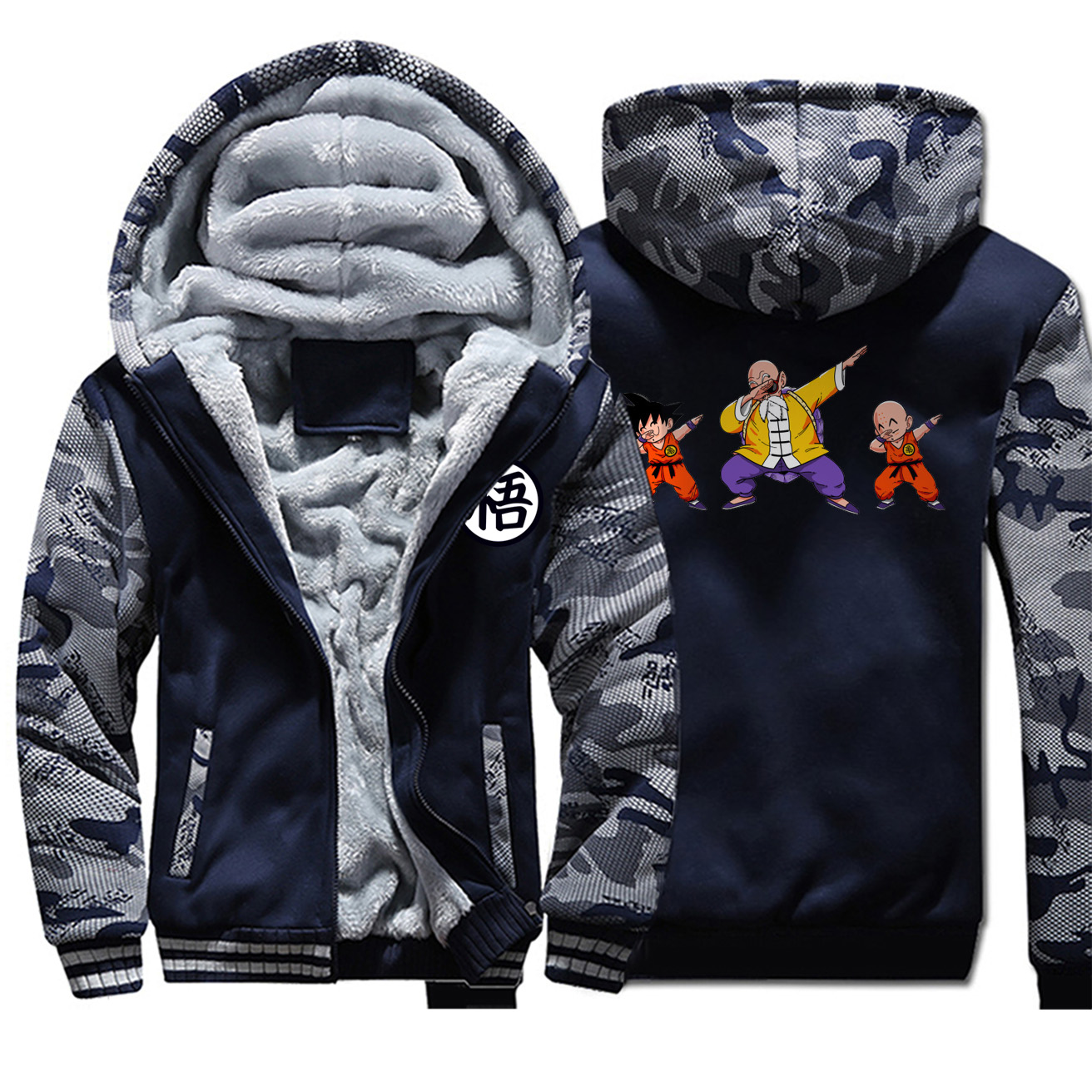 <font><b>Dragon</b></font> <font><b>Ball</b></font> <font><b>Z</b></font> <font><b>Jacket</b></font> Men Hoodies Sweatshirt 2019 Funny Japan Anime <font><b>Goku</b></font> Thick Coats Hip Hop Winter Streetwear Mens <font><b>Jackets</b></font> Coat image