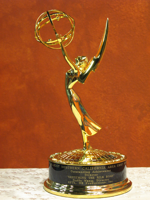 Real 1:1   28CM  Metal Emmy Trophy Factory Directly Sales Emmy Trophy Academy Award Of Merit Free DHL Shipment Christmas Gift