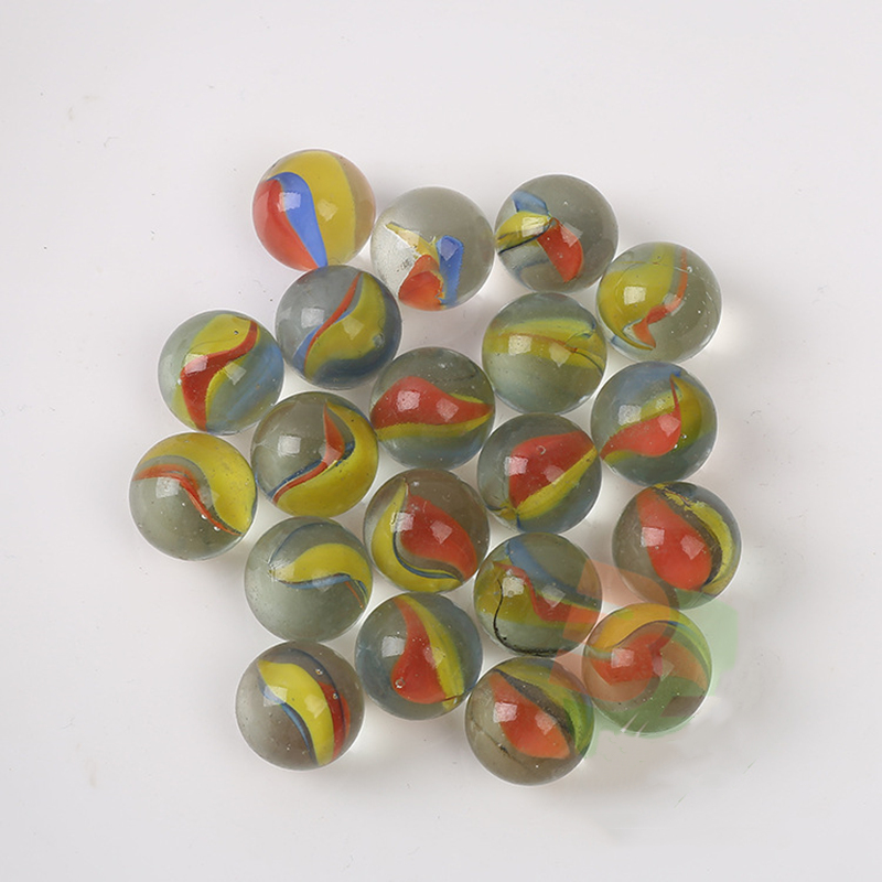 10pcs/lot 16mm Clear Glass Balls Pinball 8-Petals Marbles Machine Vase Fish Tank Aquarium Decor Gifts Toys For Kids Children