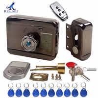 Cerradura electrónica de puerta RFID, cerradura eléctrica inalámbrica para cerradura de puerta eléctrica de Metal, bloqueo de tarjeta RFID de 125 KHZ, cerradura de puerta de Motor sin llave