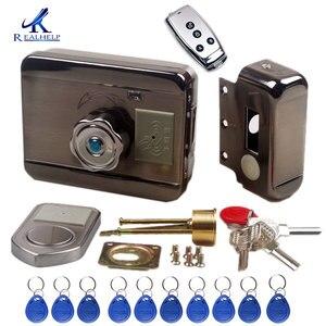 Image 2 - Электронный дверной замок RFID, беспроводной электрический замок для металла, Электрический дверной замок 125 кГц, RFID карта, замок без ключа, дверной замок