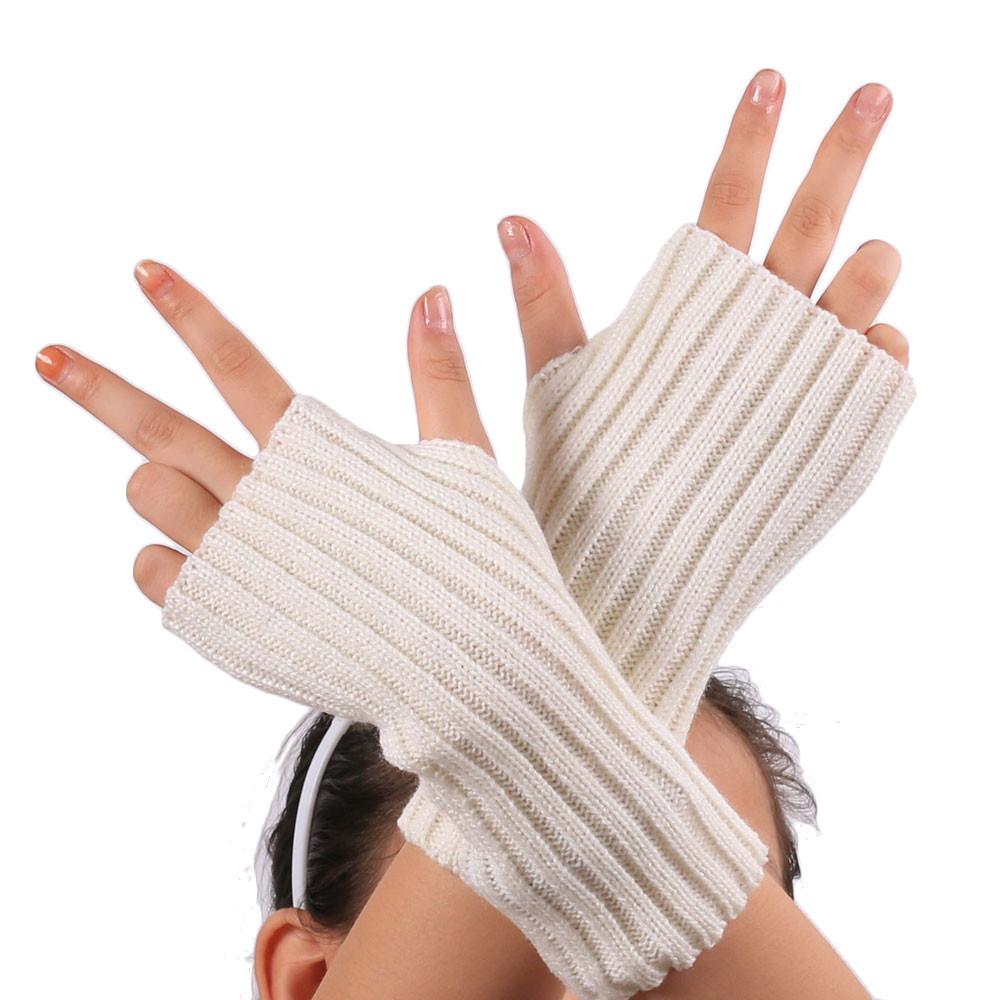Fashion Women Girl Knitted Gloves Arm Fingerless Warm Winter Mitten Soft Warm Comfortable Glove Guantes Tacticos Unisex