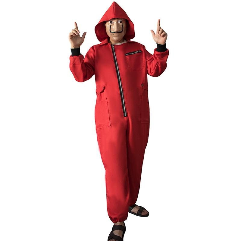 Movie La Casa De Papel Dali Costume La Case De Papel Season 3 Red Jumpsuit Costume Money Heist  Hallowmas Cosplay Costume