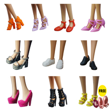 10 pairs/lot Original shoes for Barbie Doll 1/6 bjd accessor