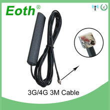 5pcs Eoth 3G 4G LTE Antnenna 3dBi CRC9 male Patch Antena with 3m Extension cable Antenne for Wireless Repeater Router antennas