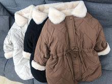 2020 novo inverno estilo coreano bebê meninas algodão-acolchoado casacos forro de lã macia engrossar quente crianças parkas crianças longo outwear