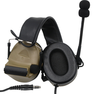 Image 3 - Tactical Comtac ii Airsoft Military Headset Pickup Noise Reduction Headphone Shooting Hunting Hearing Protection DE with U94 ptt
