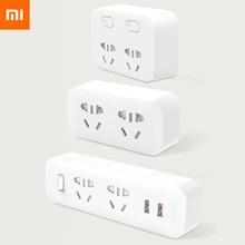 Xiaomi Mijia محول شريط الطاقة الأصلي ، قابس محمول ، محول سفر للمنزل والمكتب ، 5 فولت ، 2.1 أمبير ، 2 مآخذ USB ، شحن سريع