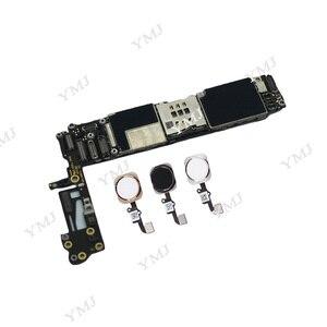 Image 3 - עבור iphone 6 4.7 אינץ האם עם מגע מזהה, 100% מקורי סמארטפון עבור iphone 6 mainboard + מלא שבבים, 16GB 64GB 128GB