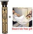 Профессиональная машинка для стрижки волос  триммер для бритвы 0 мм  аккумуляторная машинка для бритья волос  борода