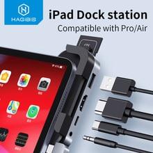 Hagibis Usb C Hub Type C Naar Hdmi-Compatibel Pd Opladen 3.5Mm Audio Jack Sd/Micro Card kaartlezer Usb 3.0 Voor Ipad Pro Air 2019 2020
