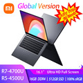 Globale Version Xiaomi RedmiBook 16 Laptop Ryzen Edition 4700U/4500U 16,1 Zoll Display 100% sRGB Typ C Ladung 512G SSD Notebook