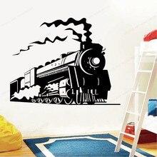 Train Wall Decal Locomotive Wall Sticker vinyl Interior Home Bedroom wall decor Kids room removable art mural JH85 grazing wall sticker home wall decor living room bedroom wall decal removable wall art mural jh206