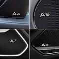 4 шт. модификация для Audi A3 A4 A6 A7 A8 TT алюминиевые аудио декоративные наклейки модифицированные Аксессуары Украшение
