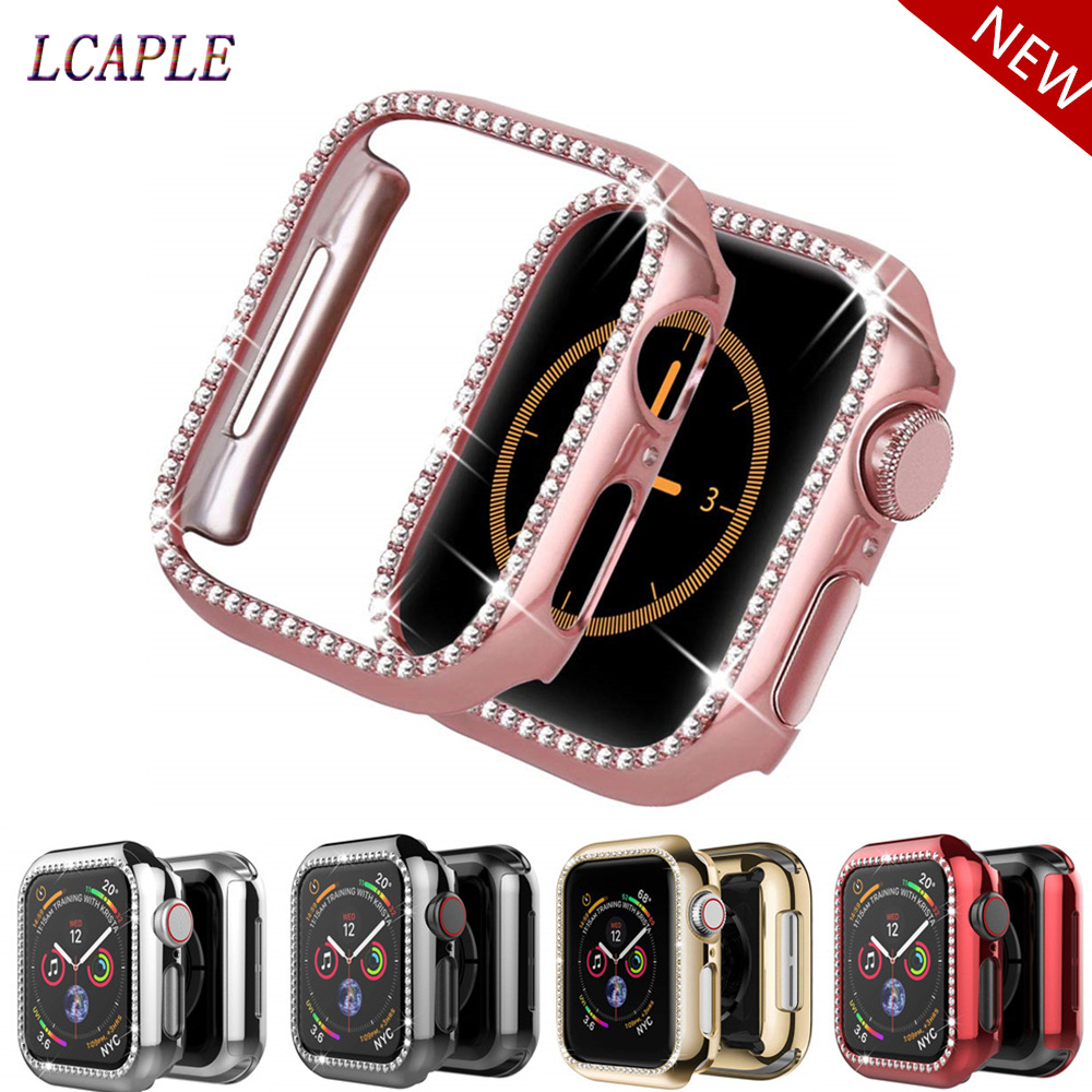 Bling Case For Apple Watch 5 4 Band 44mm 40mm Iwatch Case 42mm 38 Mm Diamond Screen Protector Cover Bumper Watch Accessories 44