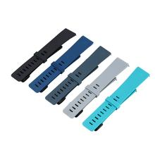 5Pcs Colors Fashion Design Watch Band Sports Silicone Fitness Strap For Fitbit Versa Smart Watch Accessories Wristband(China)