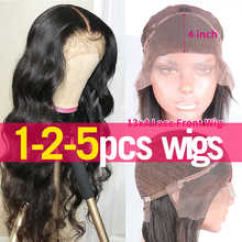 1 2 5 Pcs Lot Peruvian Body Wave Lace Frontal Wigs Ear To Ear Pre Plucked 150% 180% Lace Closure Wig Human Hair Jarin Remy