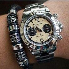 Sapphire Crystal 39mm PARNIS Japanese quartz movement men's watch
