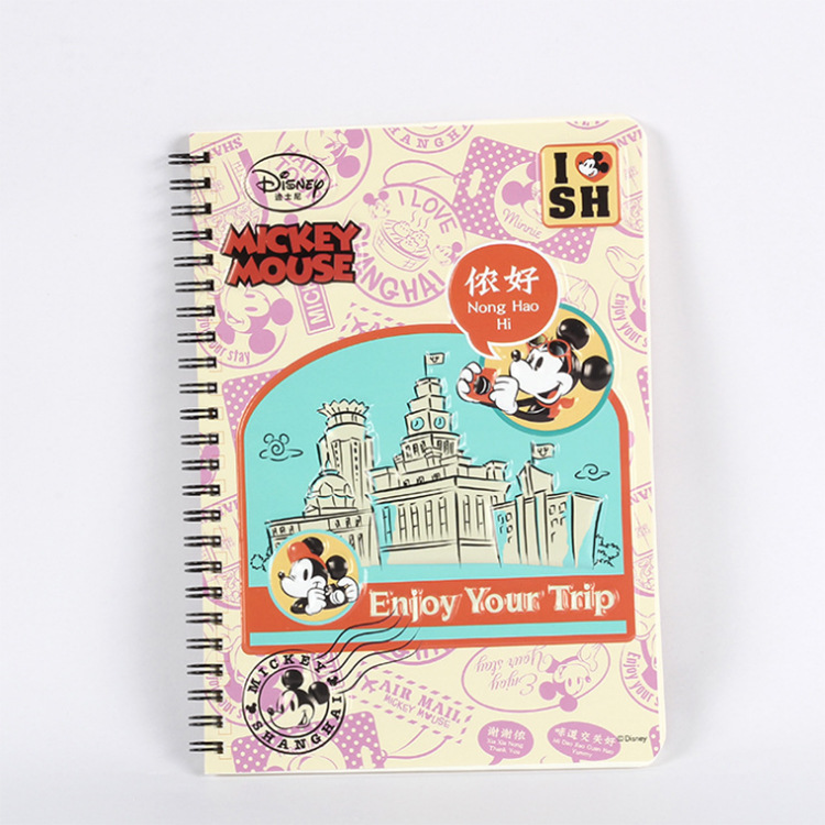 Mickey Minnie Cartoon A5 Notebook Disney Cute Notepad Mickey Mouse Stationery Student School Supplies