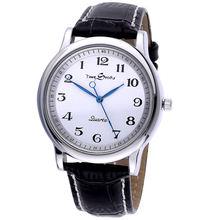 Мужские кварцевые часы против часовой стрелки обратная шкала