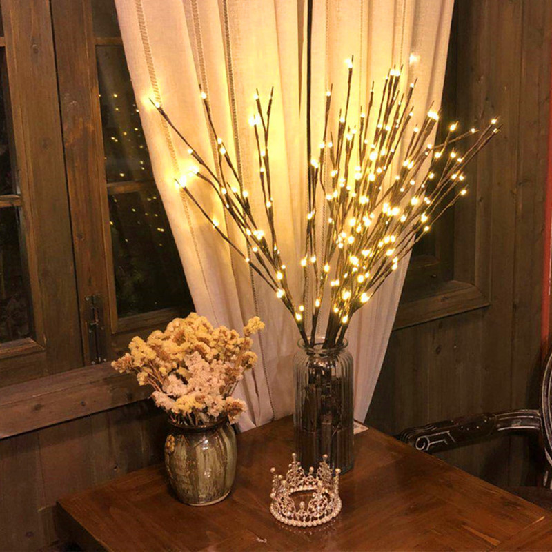 Christmas Decorations For Home LED Willow Branch Lamp Battery Powered Decorative Christmas Ornaments Christmas Tree Decorations