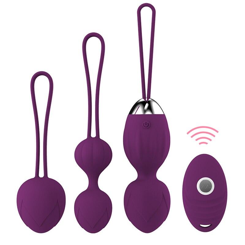 10 hız vibratör Kegel topları Ben wa topu G Spot vibratör kablosuz uzaktan kumanda vajinal sıkın egzersiz kadınlar için seks oyuncakları