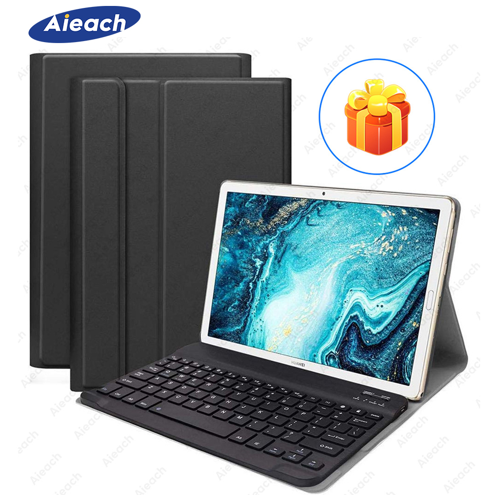 Keyboard Case For Huawei Mediapad M5 Lite 10 T3 T5 PU Leather Bluetooth Keyboard Case For Huawei MatePad Pro 10.8 M5 M6 Pro Case