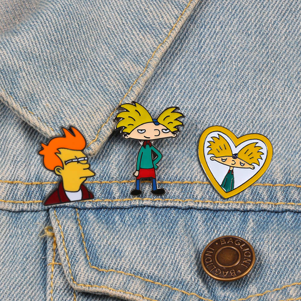 Cartoon Arnold Pins Fun Anime Jongen Emaille Pin Collection Fashion tv Show Broche voor Vrienden Rugzak Revers Pin Badge Sieraden gift