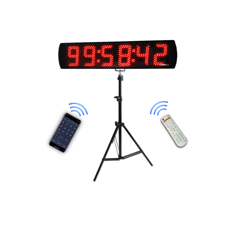 Ganxin 5'' 6 digits outdoor stopwatch countdown timer led