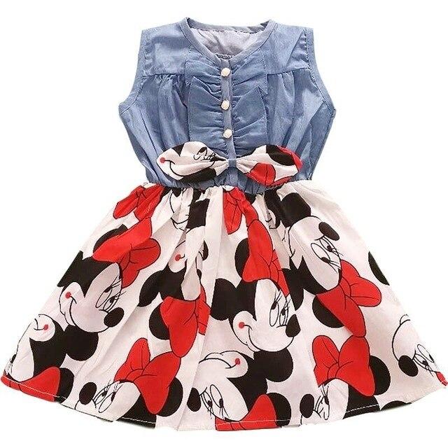 Kinder Kleider für Mädchen 2020 Neue Mädchen Kleid Ärmelloses Kind Kleid Partei Prinzessin Vestidos Nina 2-7 Jahr Cowboy kleid