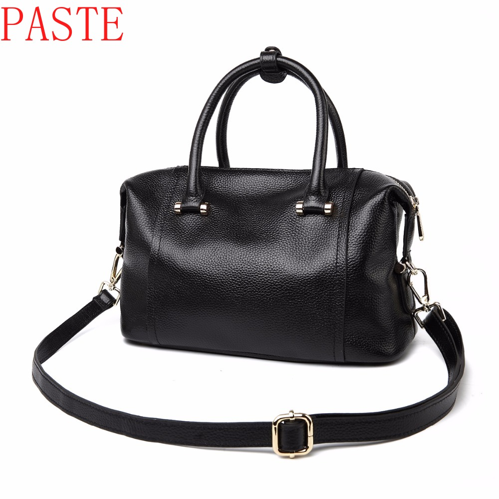 PASTE Brand Handbag Women Genuine Leather Bag Female Hobos Shoulder Bags High Quality Leather ON SALE