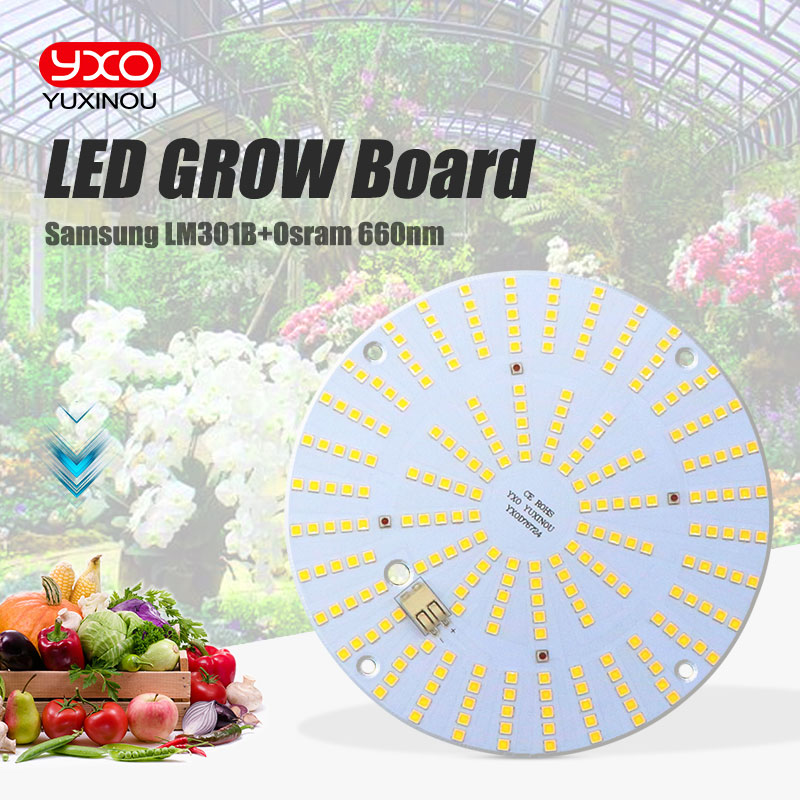 Samsung Osram Cree Led Grow Light Board Lm301b 244Pcs Chip Full Spectrum 120w Samsung 3000K 660nm IR UV Blue For Veg/Bloom State