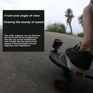 Image 3 - Motocicleta skate guiador girar braçadeira suporte de montagem titular para gopro
