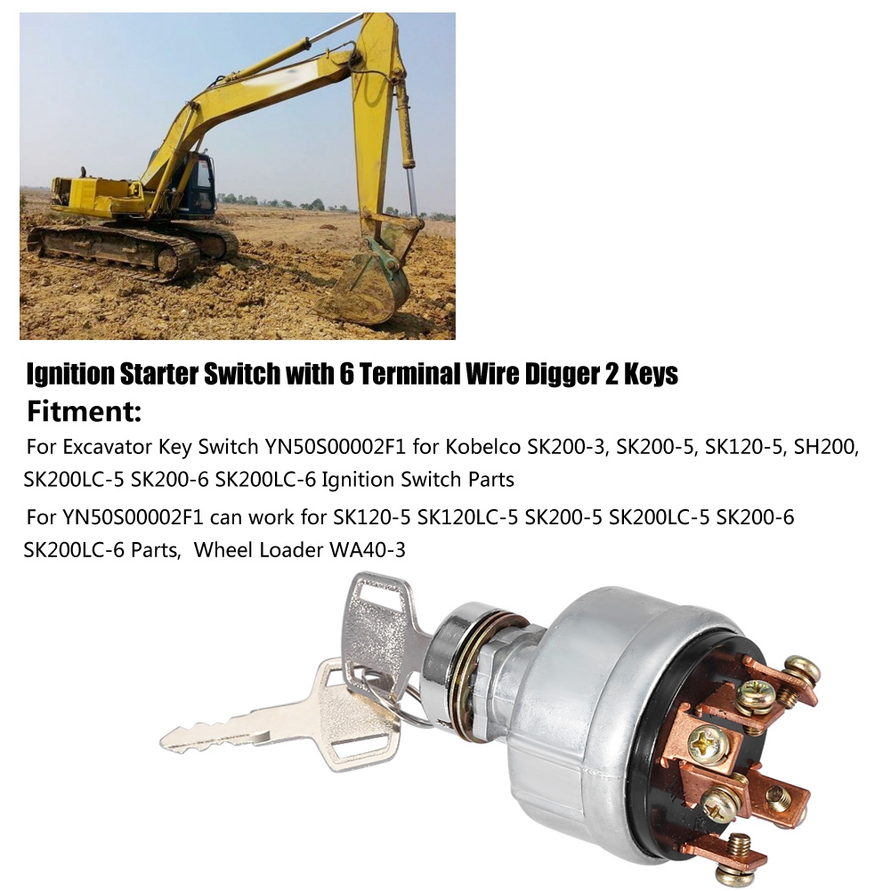 IGNITION STARTER SWITCH FOR DOOSON DIGGER EXCAVATOR WIRING INSTRUCTIONS