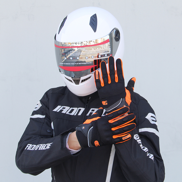 Ridding Gloves Guantes Moto Touch Screen Motorcycle Gloves Mesh Breathable Spring And Autumn Full Finger Gloves Anti-slip 5