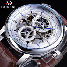 Часы наручные мужские механические водонепроницаемые ажурные