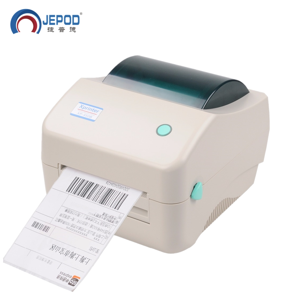 JEPOD XP-450B 20-100mm Width Printer Lables USB For Shipping Label Printing