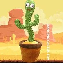 Cactus brinquedos de pelúcia, cactus de dança eletrônica, cantando e dançando cactus de pelúcia decoração do feriado presente para crianças, engraçado cedo