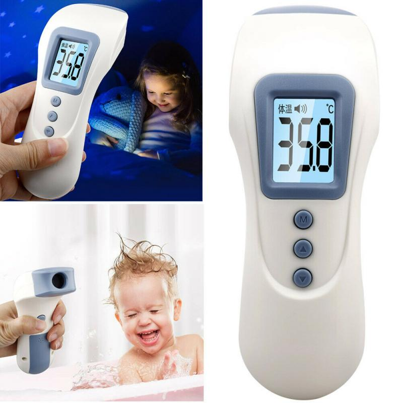 LCD Digital Thermometer Infrared Baby Forehead Non-touch Temperature Gun USB Adult Body Fever IR Children Thermometer