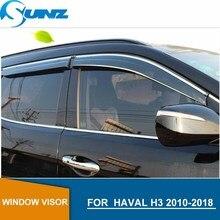 חלון Visor עבור HAVAL H3 2010 2018 צד חלון deflectors גשם משמרות עבור HAVAL H3 2010 2018 SUNZ