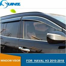 Window Visor for HAVAL H3 2010 2018 side window deflectors rain guards for HAVAL H3 2010 2018 SUNZ