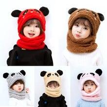 Зимняя детская шапка Плюс флисовые детские шапки мультяшная