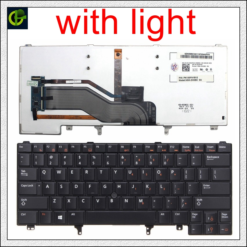 English Backlit <font><b>Keyboard</b></font> for <font><b>DELL</b></font> E6420 E5420 E5430 E6220 E6320 E6330 E6420 E6430 E6430ATG E5420M E6430S xt3 E6440 <font><b>e6230</b></font> US image