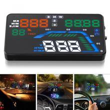 Универсальный Q7 5,5 дюймов черный Автомобильный HUD gps дисплей спидометры превышение Предупреждение приборной панели лобовое стекло проектор