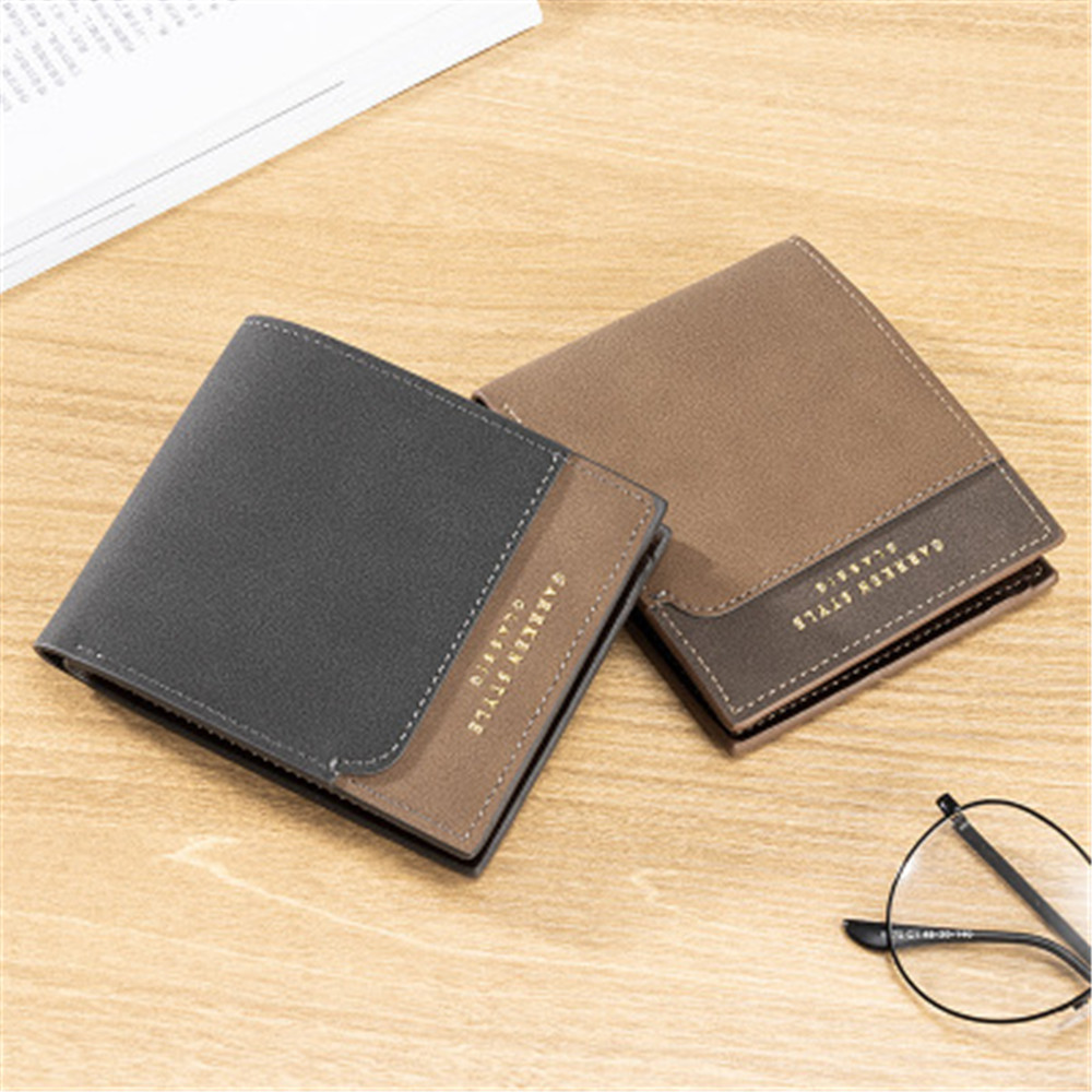 Vintage Mens Short Wallet Men Genuine Leather Clutch Wallets Purses First Layer Real Leather